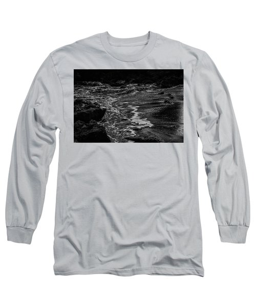 Motion In Black And White Long Sleeve T-Shirt