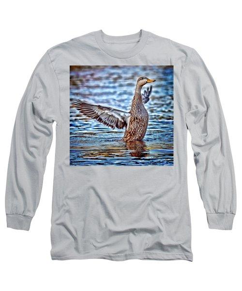 Mottled Duck Takeoff Long Sleeve T-Shirt