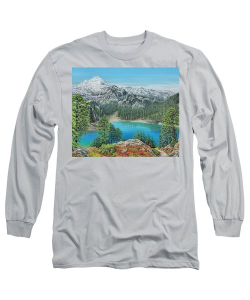 Mount Baker Wilderness Long Sleeve T-Shirt by Jane Girardot
