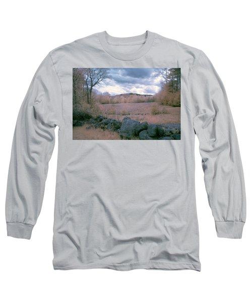 Mount Monadnock In Infrared Long Sleeve T-Shirt by Tom Singleton