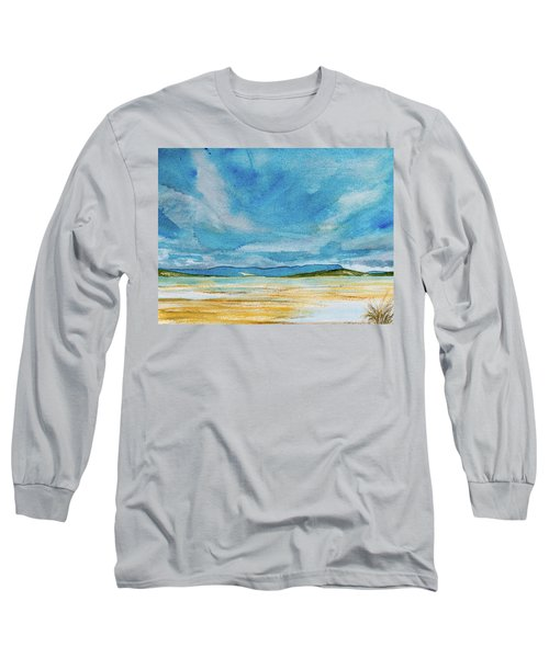 View Of Mount Wellington From South Bruny Island Long Sleeve T-Shirt