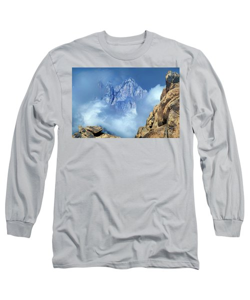 Mount Whitney Clearing Storm Eastern Sierras California Long Sleeve T-Shirt