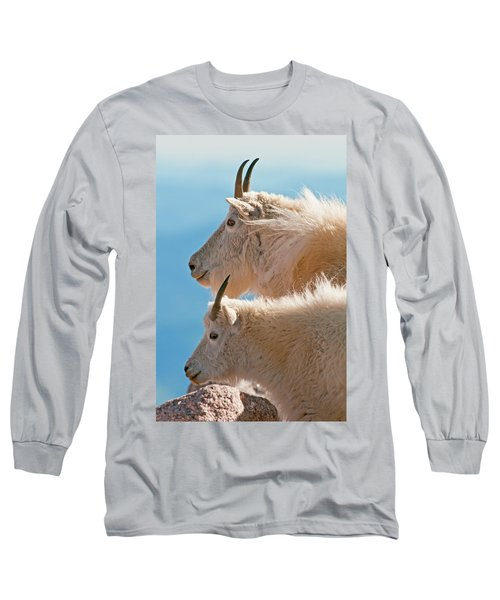 Long Sleeve T-Shirt featuring the photograph Mountain Goats by Gary Lengyel
