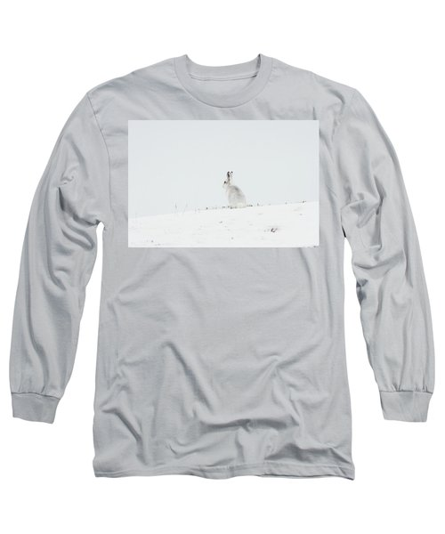 Mountain Hare Sat In Snow Long Sleeve T-Shirt
