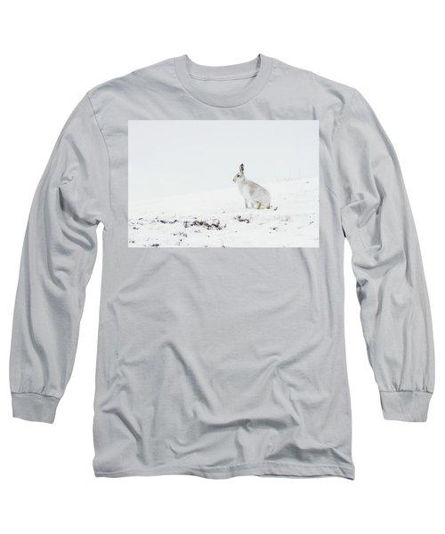 Mountain Hare Side On Long Sleeve T-Shirt
