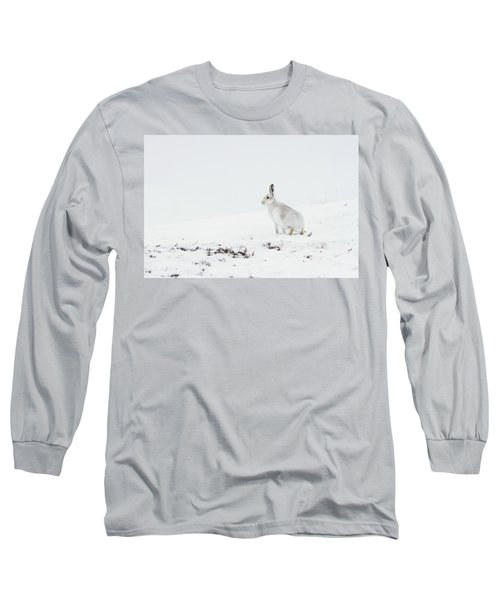 Mountain Hare Side On Long Sleeve T-Shirt