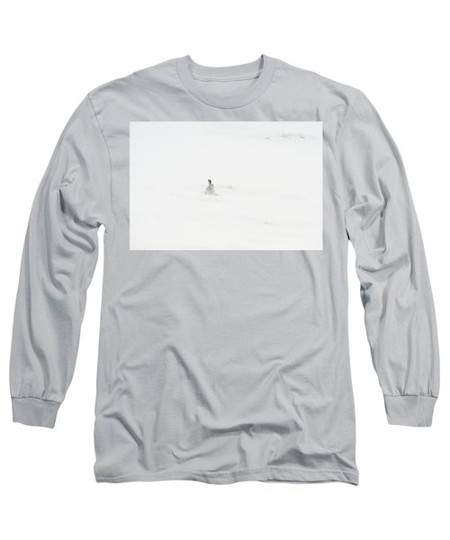 Mountain Hare Small In Frame Left Long Sleeve T-Shirt
