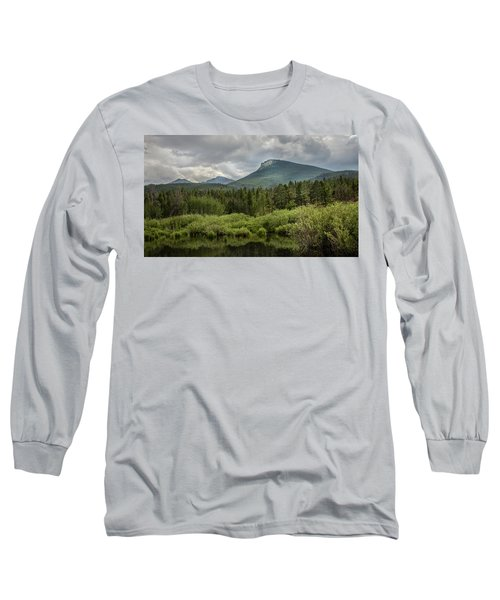 Mountain View From The Marsh Long Sleeve T-Shirt