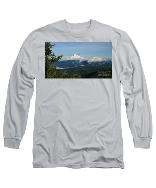 Mountain View Long Sleeve T-Shirt by Sheila Ping