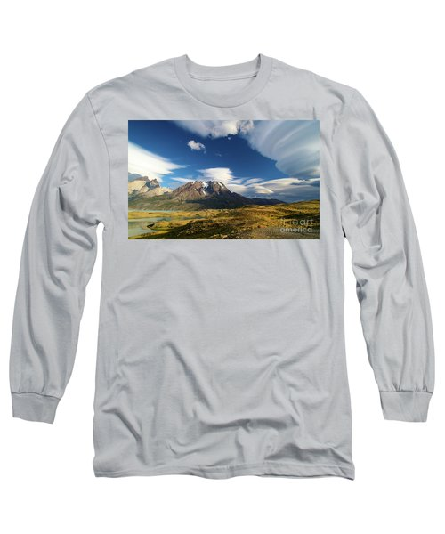 Mountains And Clouds In Patagonia Long Sleeve T-Shirt