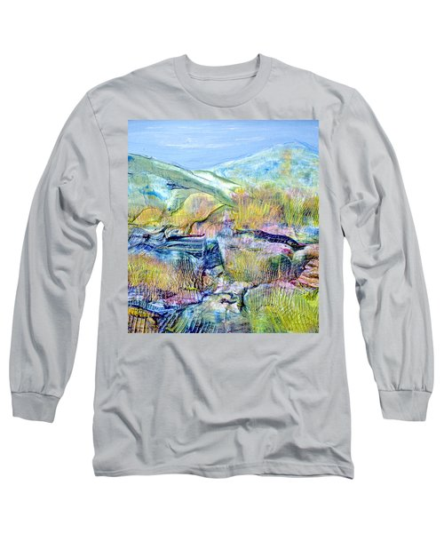 Mountains And Marsh Long Sleeve T-Shirt by Regina Valluzzi