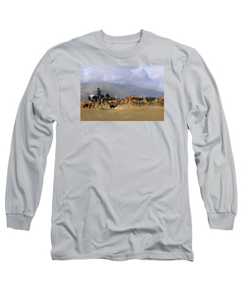 Move Em Out Long Sleeve T-Shirt by Ed Hall