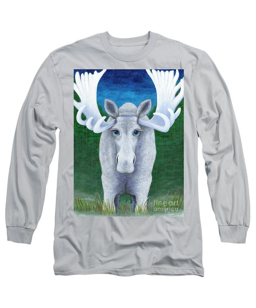 Mr. Moose Long Sleeve T-Shirt by Rebecca Parker