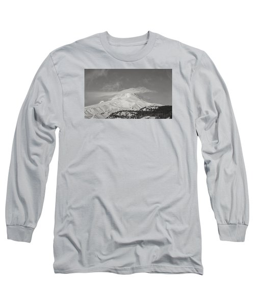 Mt Hood From White River Long Sleeve T-Shirt
