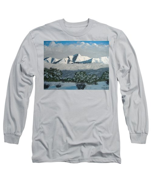 Long Sleeve T-Shirt featuring the painting Mt Princeton Co by Norm Starks