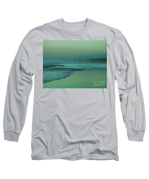 Muawai Sunset Long Sleeve T-Shirt by Karen Lewis