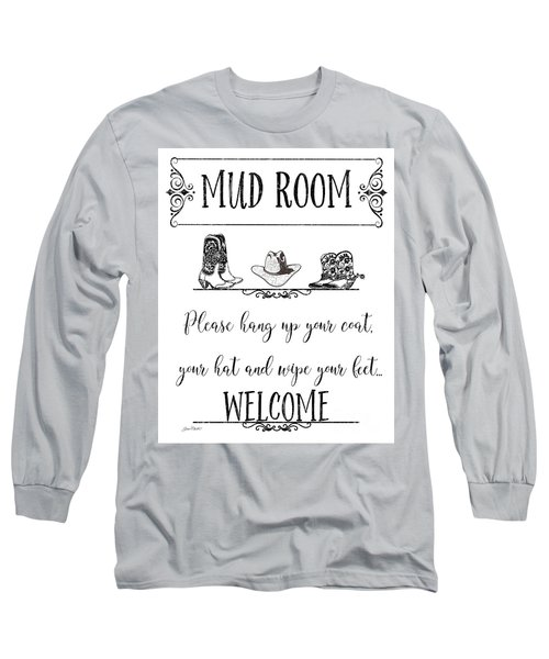 Long Sleeve T-Shirt featuring the digital art Mud Room-e by Jean Plout