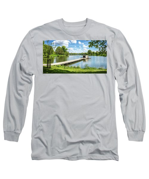 Muenster Aasee Panoramic View Long Sleeve T-Shirt