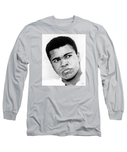 Muhammad Ali Pencil Drawing Long Sleeve T-Shirt