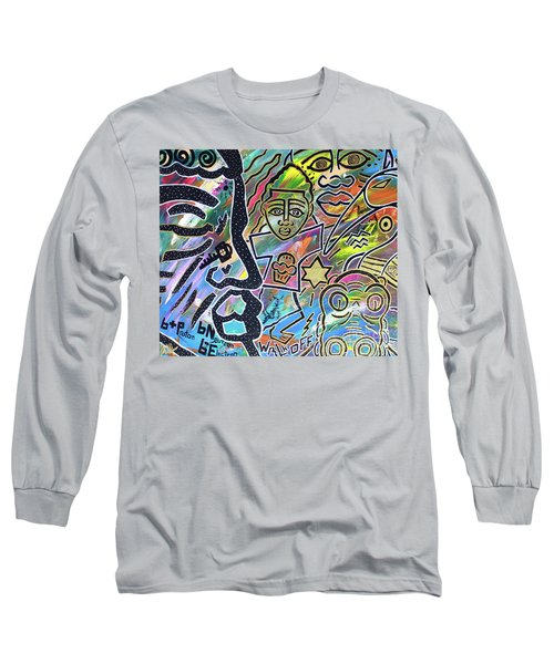 Multi-dimensional Beings Stepping Out The Body Walking Through The Cosmos Long Sleeve T-Shirt