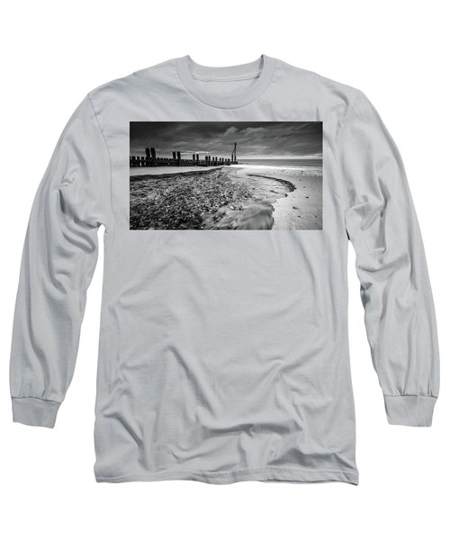 Mundesley Beach - Mono Long Sleeve T-Shirt