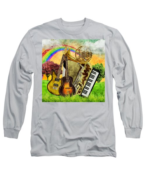 Musical Wonderland Long Sleeve T-Shirt by Ally White