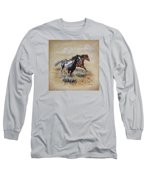 Mustang Glory Long Sleeve T-Shirt by Kim Lockman