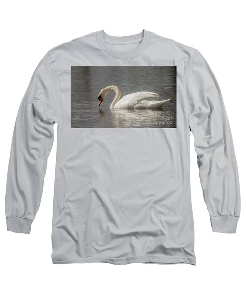 Long Sleeve T-Shirt featuring the photograph Mute Swan by David Bearden