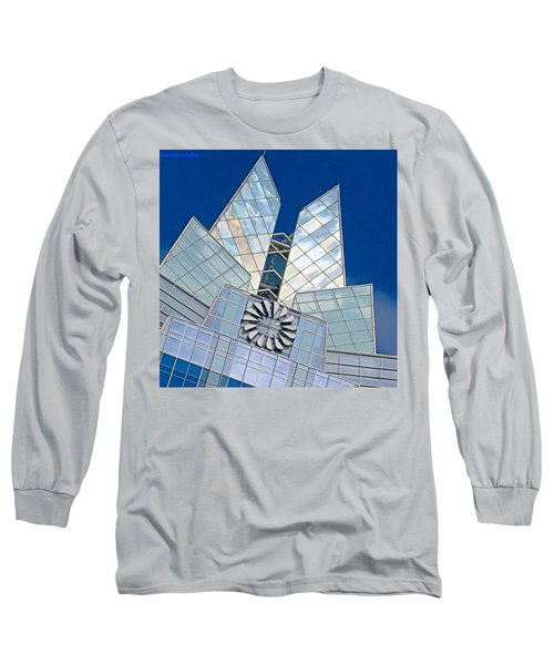 My Favorite #building In #myhometown Long Sleeve T-Shirt by Austin Tuxedo Cat