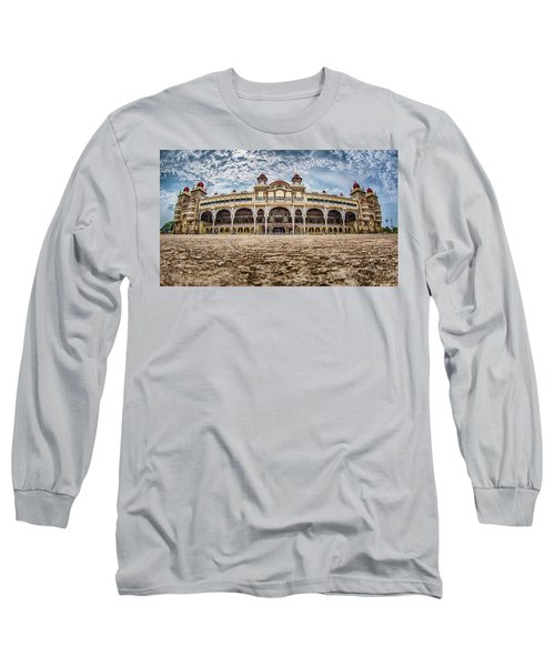 Long Sleeve T-Shirt featuring the photograph Mysore Palace by Chris Cousins