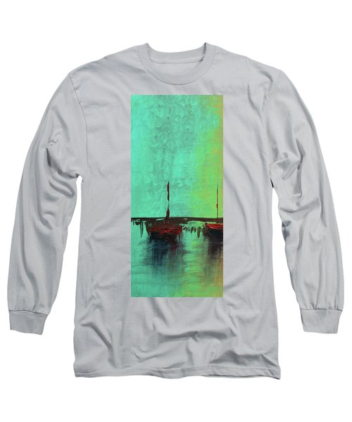 Mystic Bay Triptych 1 Of 3 Long Sleeve T-Shirt