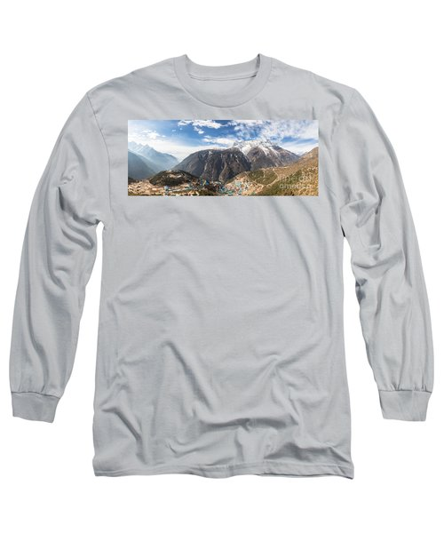 Namche Bazar Panorama Long Sleeve T-Shirt