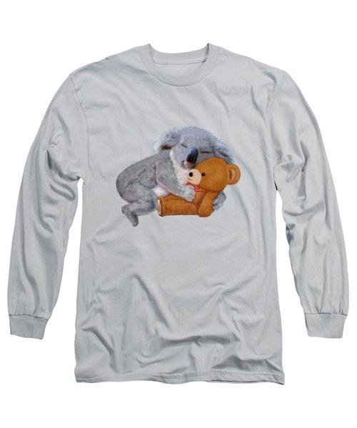 Naptime With Teddy Bear Long Sleeve T-Shirt by Glenn Holbrook