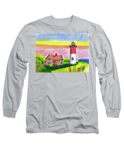 Nauset Point Lighthouse Long Sleeve T-Shirt by Paul Meinerth