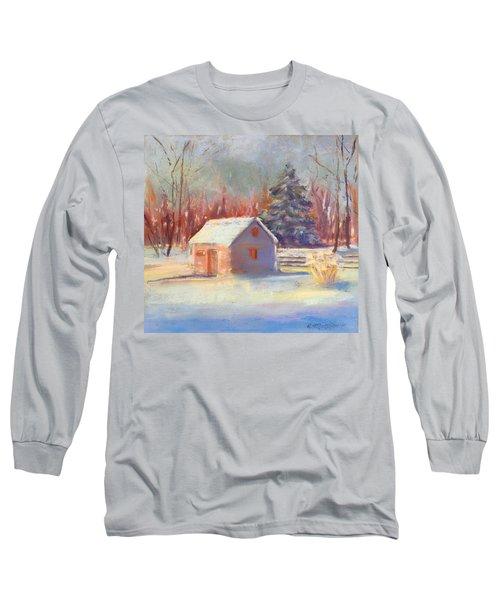 Nauvoo Winter Scene Long Sleeve T-Shirt