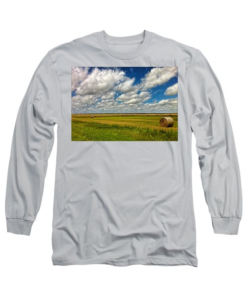 Nebraska Wheat Fields Long Sleeve T-Shirt