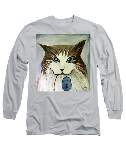 Nerd Cat Long Sleeve T-Shirt by Victoria Lakes