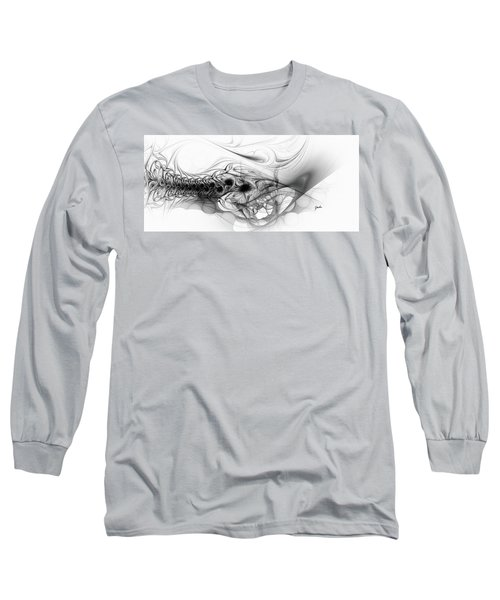 New Directions - Black And White Modern Abstract Art Long Sleeve T-Shirt