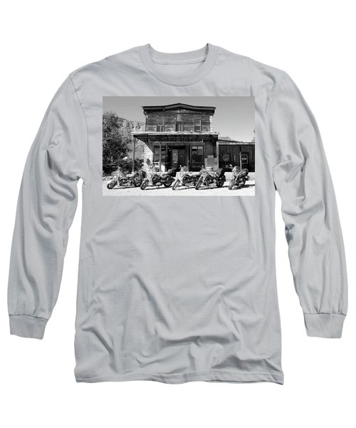 New Horses At Bedrock Long Sleeve T-Shirt by David Lee Thompson