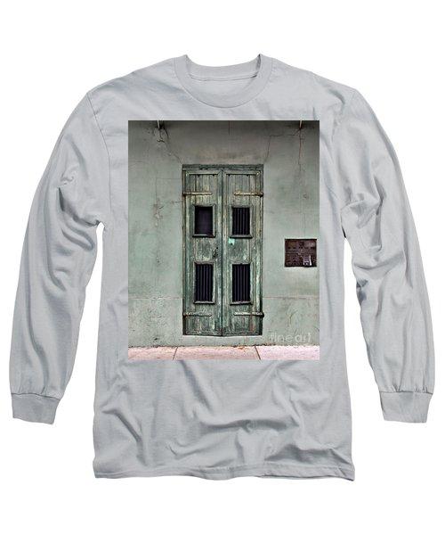 New Orleans Green Doors Long Sleeve T-Shirt