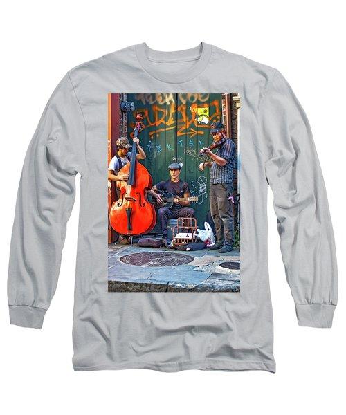New Orleans Street Musicians Long Sleeve T-Shirt