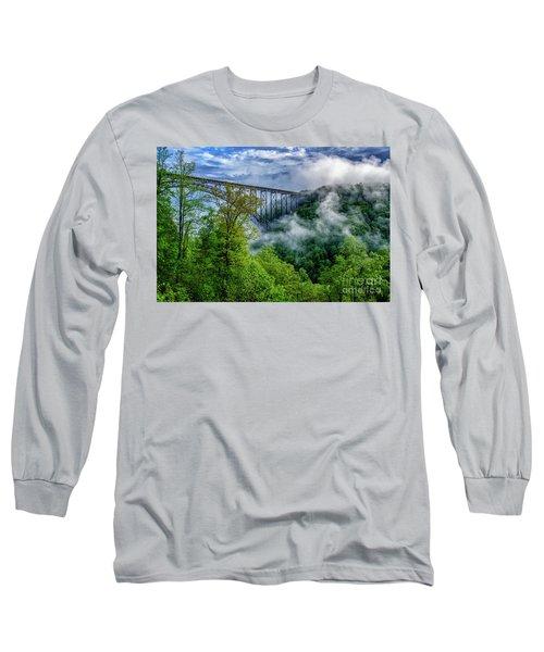 New River Gorge Bridge Morning  Long Sleeve T-Shirt