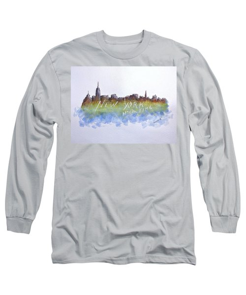 New York After Time Long Sleeve T-Shirt