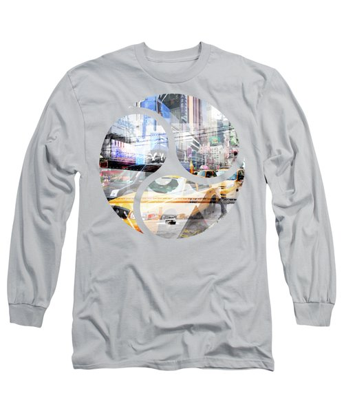 New York City Geometric Mix No. 9 Long Sleeve T-Shirt by Melanie Viola