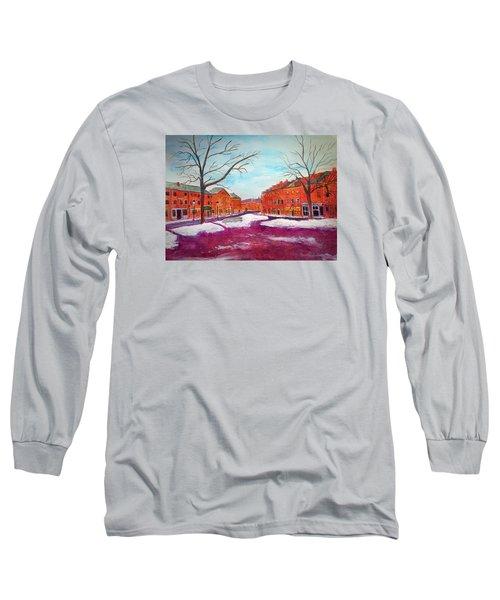Newburyport Ma In Winter Long Sleeve T-Shirt