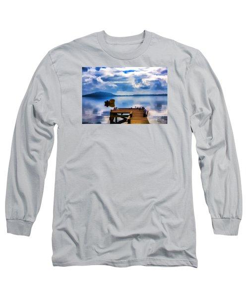 Nice Dock Long Sleeve T-Shirt by Rick Bragan