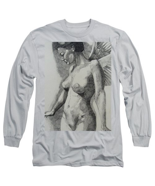 Night Angel Long Sleeve T-Shirt by Ray Agius