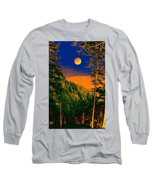 Long Sleeve T-Shirt featuring the digital art Night Art by Bliss Of Art