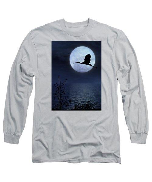 Night Flight Long Sleeve T-Shirt by Christina Lihani