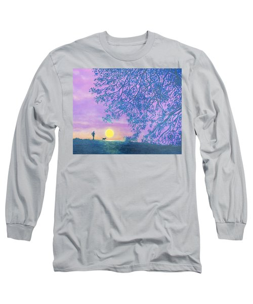 Long Sleeve T-Shirt featuring the painting Night Runner by Susan DeLain